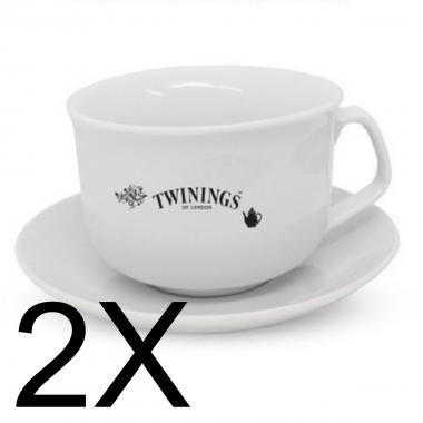 Twinings Set 2 Tazze + Piattino Classiche
