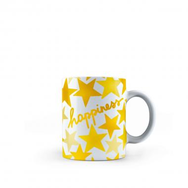 Bialetti Originale Tazza Porcellana Mug Messaggio Happiness 290ml <br />