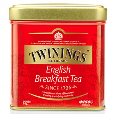 Twinings English Breakfast Tea 100g Sfuso in Latta